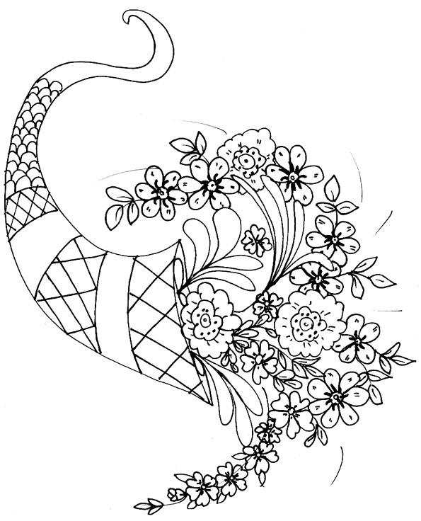 Coloriage et dessins gratuits Un beau bouquet de fleurs pour la Mère à imprimer
