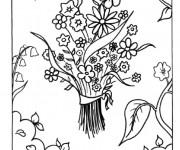 Coloriage et dessins gratuit Un Bouquet de fleurs pour Maman à imprimer
