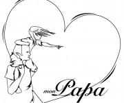 Coloriage Amour pour Papa