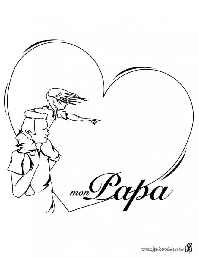 Coloriage et dessins gratuits Amour pour Papa à imprimer