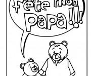 Coloriage Carte de voeux à offrir à Papa