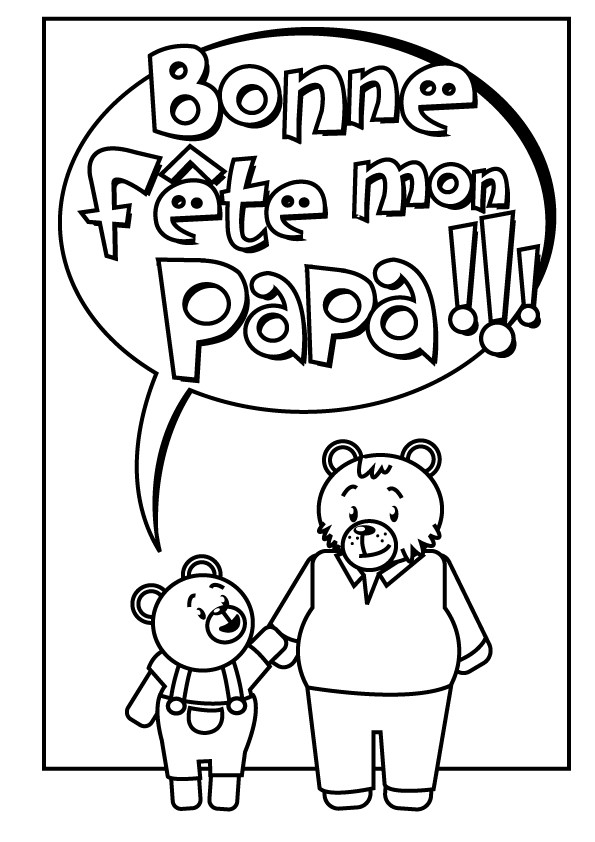 Coloriage et dessins gratuits Carte de voeux à offrir à Papa à imprimer
