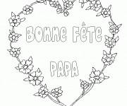 Coloriage et dessins gratuit Carte Fête des Pères fleuri à imprimer