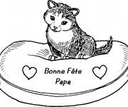 Coloriage et dessins gratuit Carte magnifique Fête des Pères à imprimer