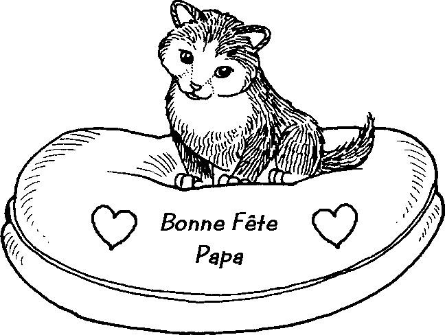 Coloriage et dessins gratuits Carte magnifique Fête des Pères à imprimer