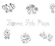Coloriage et dessins gratuit Célébration de Fête des Pères à imprimer
