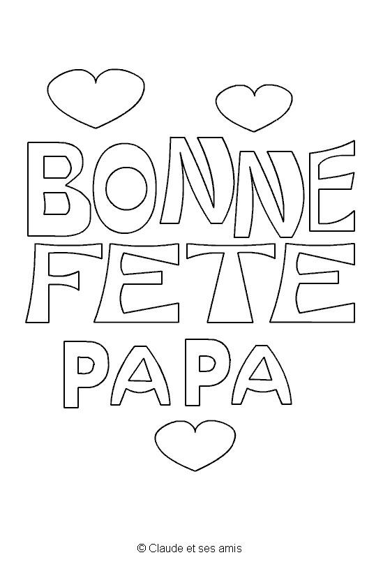 Coloriage et dessins gratuits Fête des Pères à télécharger à imprimer