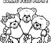Coloriage et dessins gratuit Fête des Pères en couleur à imprimer