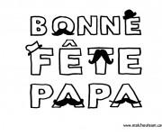 Coloriage et dessins gratuit Fête des Pères facile à imprimer