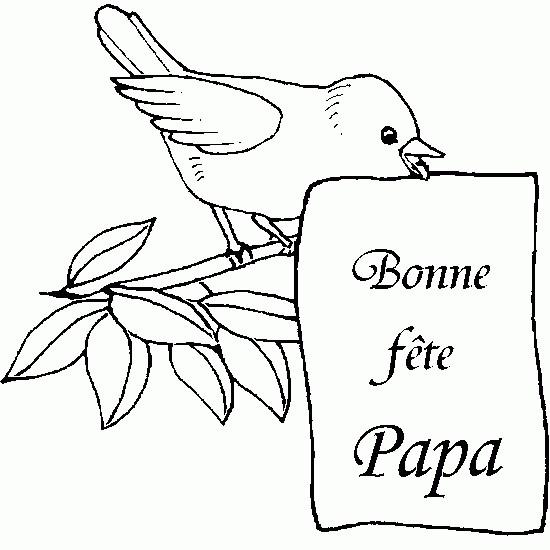 Coloriage et dessins gratuits Fête des Pères magnifique à imprimer