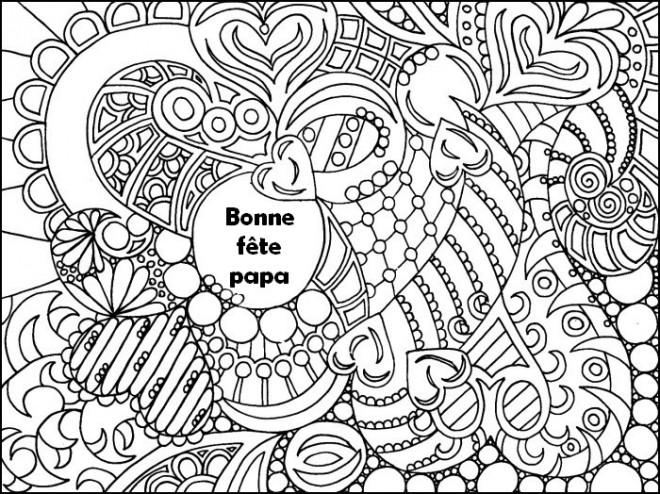 Coloriage et dessins gratuits Fête des Pères mandala à imprimer