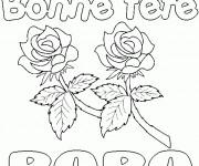 Coloriage Fête des Pères stylisé