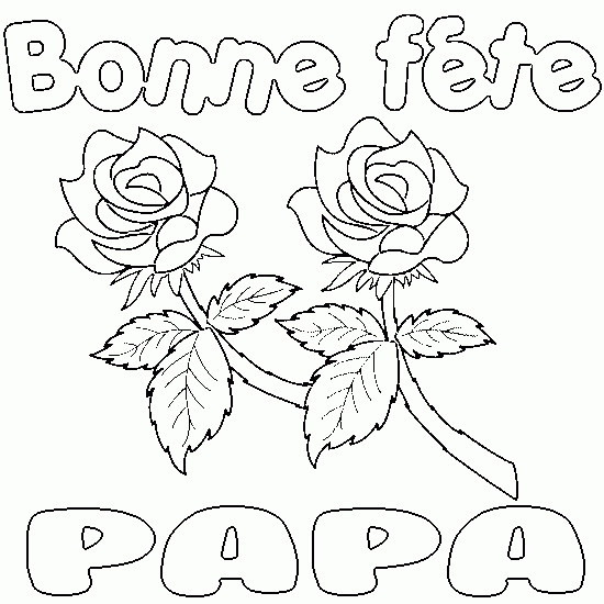 Coloriage et dessins gratuits Fête des Pères stylisé à imprimer