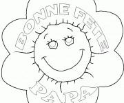 Coloriage et dessins gratuit Fleur pour Papa à imprimer