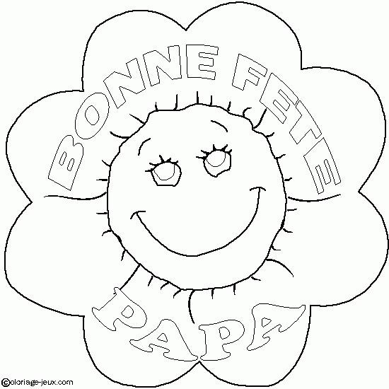 Coloriage et dessins gratuits Fleur pour Papa à imprimer