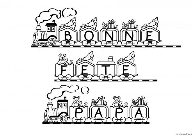 Coloriage et dessins gratuits Image de Fête des Pères à découper à imprimer