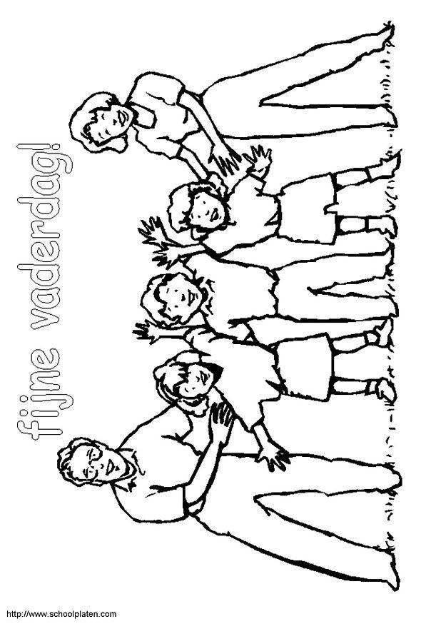 Coloriage et dessins gratuits La Famille et la Fête des Pères à imprimer