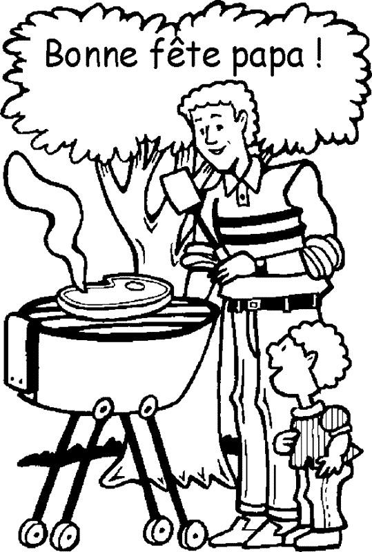 Coloriage et dessins gratuits Le Père et son fils au jardin à imprimer