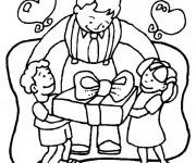 Coloriage et dessins gratuit Les cadeaux pour la Fête des Pères à imprimer