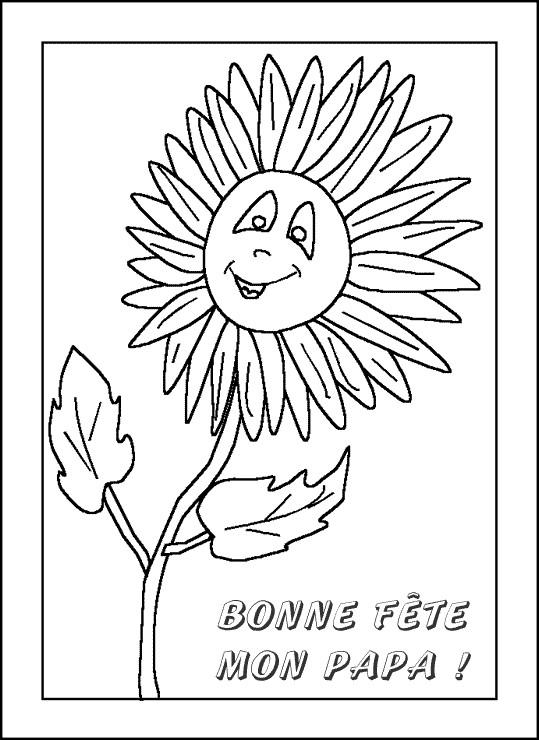 Coloriage et dessins gratuits Lettre pour Fête des Pères à imprimer