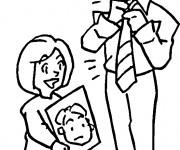 Coloriage Papa et Maman à colorier