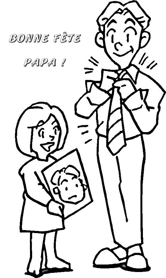 Coloriage Papa Et Maman à Colorier Dessin Gratuit à Imprimer