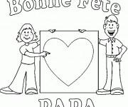 Coloriage et dessins gratuit Papa et son fils et La Fête des Pères à imprimer