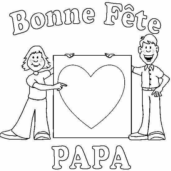 Coloriage et dessins gratuits Papa et son fils et La Fête des Pères à imprimer