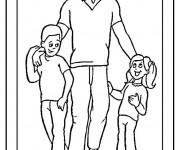 Coloriage et dessins gratuit Papa je t'aime à imprimer