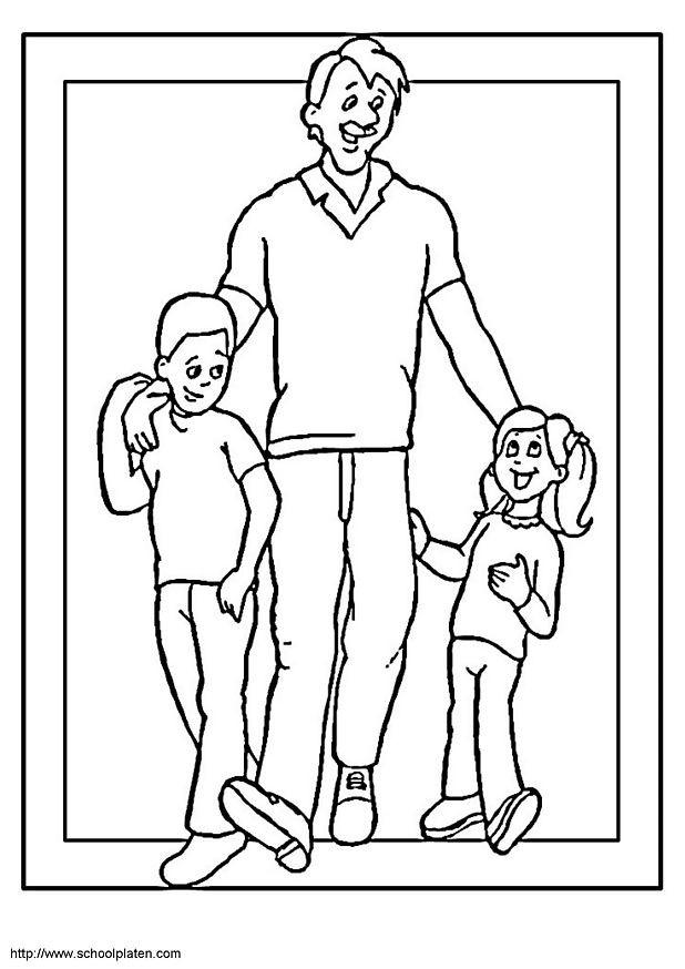 Coloriage et dessins gratuits Papa je t'aime à imprimer