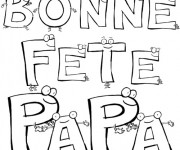 Coloriage et dessins gratuit Textes pour Fête des Pères à imprimer