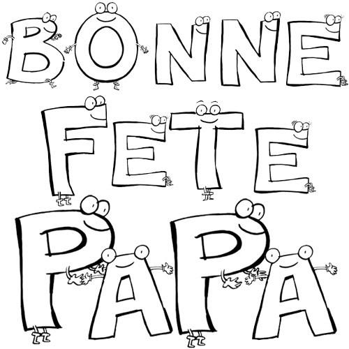 Coloriage et dessins gratuits Textes pour Fête des Pères à imprimer