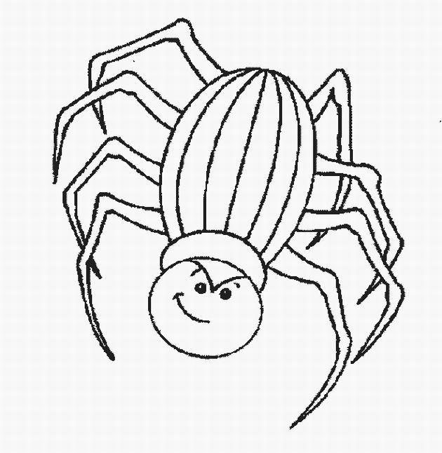 Coloriage et dessins gratuits Araignée d'Halloween à imprimer