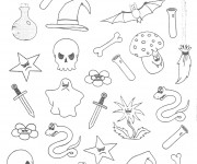 Coloriage Articles Halloween