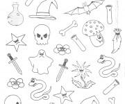 Coloriage et dessins gratuit Articles Halloween à imprimer