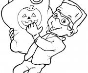 Coloriage et dessins gratuit Bonbons d'Halloween à imprimer