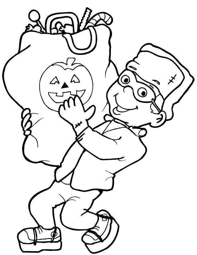 Coloriage et dessins gratuits Bonbons d'Halloween à imprimer