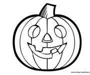 Coloriage et dessins gratuit Citrouille Halloween 1 à imprimer