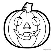 Coloriage et dessins gratuit Citrouille Halloween à imprimer