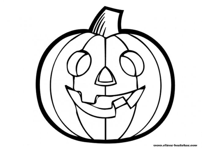 Coloriage et dessins gratuits Citrouille Halloween à imprimer