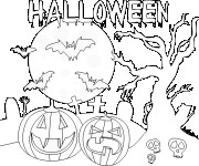 Coloriage Dessin d'halloween facile