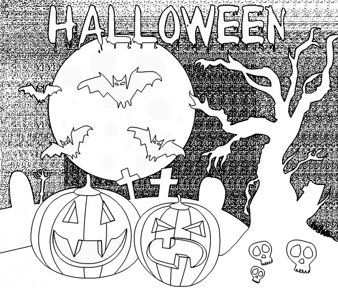 coloriage dessin d 39 halloween facile dessin gratuit imprimer. Black Bedroom Furniture Sets. Home Design Ideas