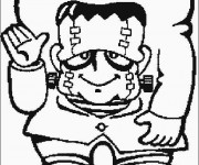 Coloriage et dessins gratuit Dessin Frankenstein facile à imprimer