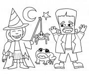 Coloriage et dessins gratuit Dessin Halloween en ligne à imprimer