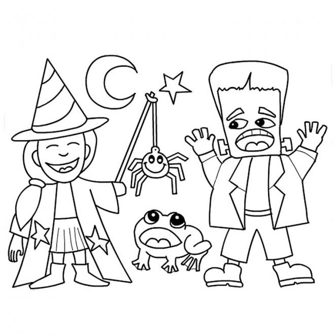 Coloriage dessin halloween en ligne dessin gratuit imprimer - Dessin d halloween facile ...