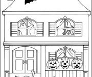 Coloriage Halloween à découper