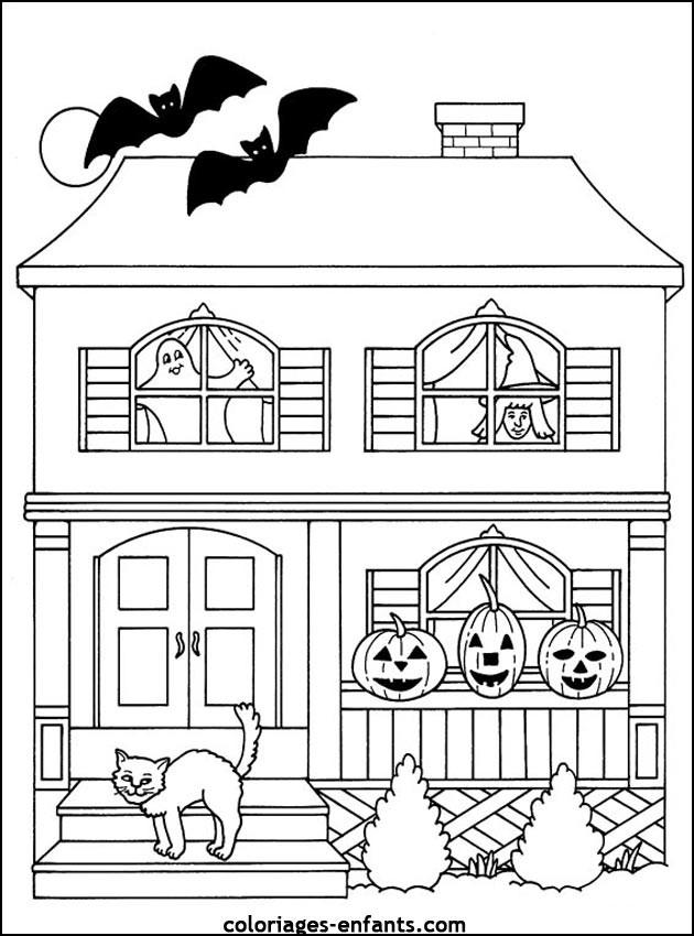 Coloriage et dessins gratuits Halloween à découper à imprimer