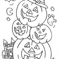 Coloriage et dessins gratuit Halloween Bonhomme de citrouilles à imprimer