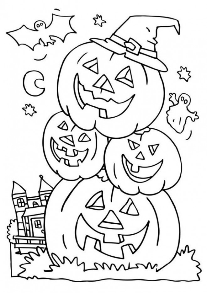 coloriage halloween bonhomme de citrouilles dessin gratuit imprimer. Black Bedroom Furniture Sets. Home Design Ideas