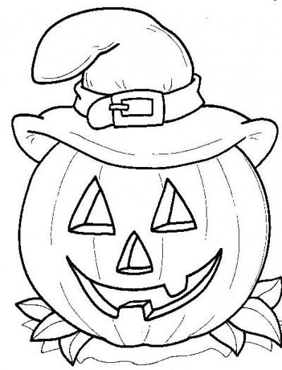 Coloriage Halloween Citrouille Et Chapeau De Sorcière